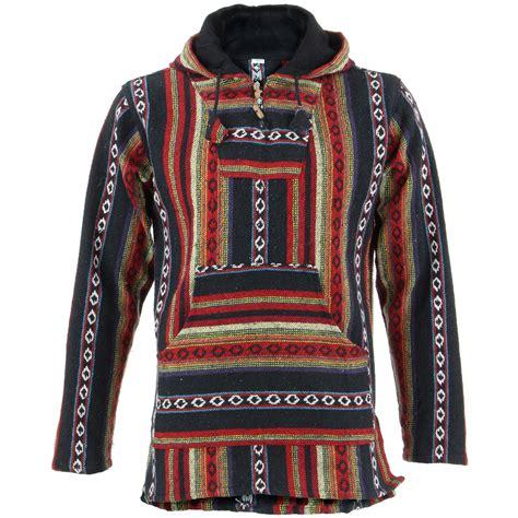 rug hoodie for sale hoodie jumper baja jerga rug loudelephant hoody hooded hippy jacket ebay