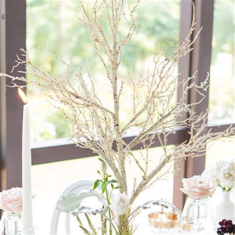 wedding centerpieces birch tree branch