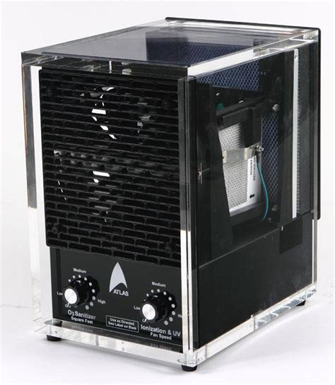 acrylic air purifier dual ozone with washable hepa ionizer