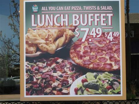 Table Pizza Specials by Lunch Buffet Special Picture Of Table Pizza
