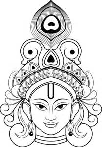 Outline Pictures Of God Krishna by Indian And Lord On