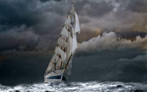 sailing ship  stormy sea hd wallpaper background image