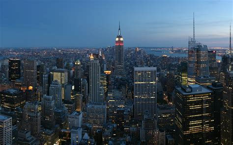 manhattan skyline wallpaper wallpapersafari