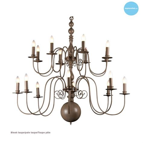 Grand Lustre by Grand Lustre Chandelier Blanc Noir Gris E14x16 115cm