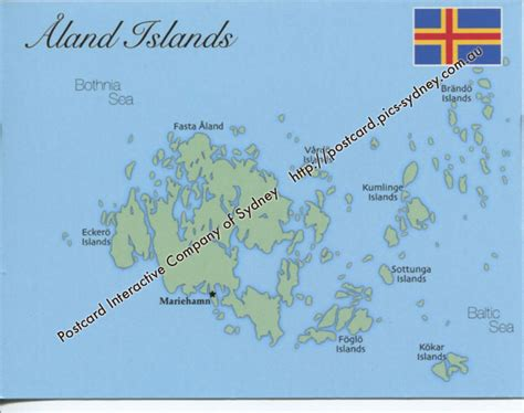 aland islands map map of aland islands mapa06 1 00 postcard interactive