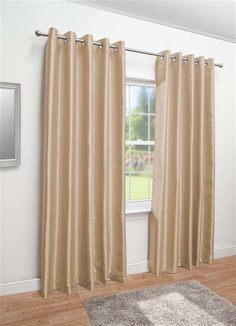 fully lined eyelet curtains latte faux silk eyelet fully lined curtains