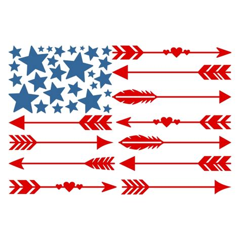 arrow pattern svg usa america flag arrow cuttable design cut file vector
