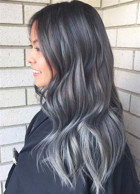 high lighted hair with gray roots 17 ideas about dark grey hair on pinterest dark pastel