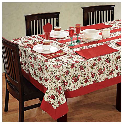 Dining Table Cloth Sets Dinner Table Linen Set 6 Seater Kitchen Dining Tablecloth Napkins Cloth Ebay