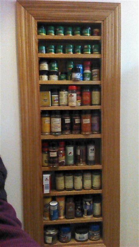 built in spice cabinet built in spice rack spice cabinet pinterest
