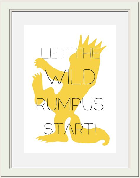Printable Version Of Where The Wild Things Are | where the wild things are nursery printable wild rumpus