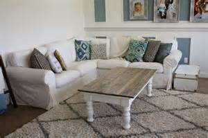 nifty thrifty momma farmhouse style coffee table