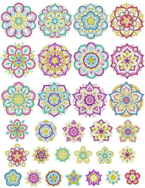 mandala essence machine embroidery designs  sew swell