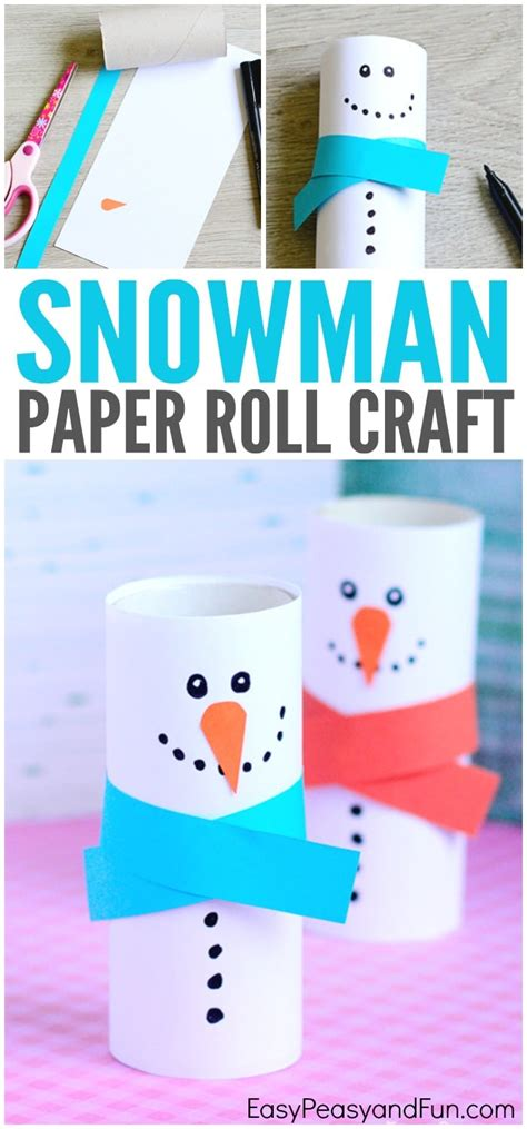 paper rolling craft paper roll snowman craft winter crafts for easy