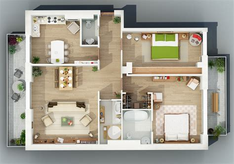 House Apartment Design Plans Apartment Designs Shown With Rendered 3d Floor Plans