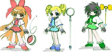 Dress Cibi powerpuffgirl anime chibi t 236 m với powerpuff