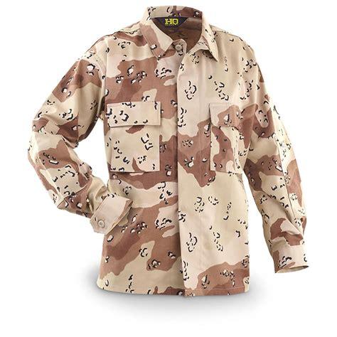 Blouse Bda hq issue style desert cotton polyester bdu shirt 6 color desert camo 592421