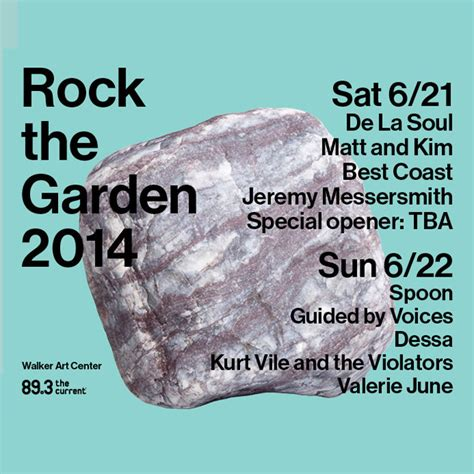 Rock The Garden Tickets Rock The Garden 2014 The Current From Minnesota Radio