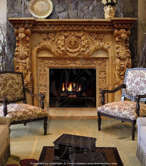 Gold Fireplace by Artistic Gold Marble Fireplace Surround