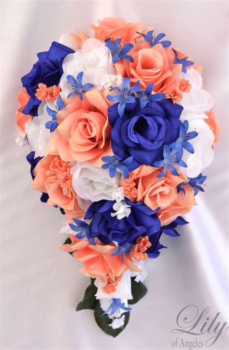 details  piece package silk flower wedding bridal