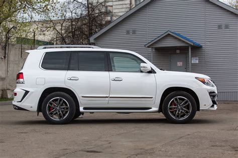 lexus that looks like a white lexus lx 570 with larte quot alligator quot tuning kit looks