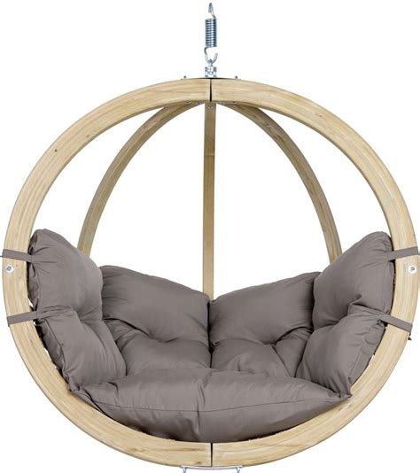 Chaise à Suspendre chaise globo 224 suspendre avec coussin taupe coussin