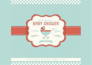 shower invitation template baby shower vector invitation template free
