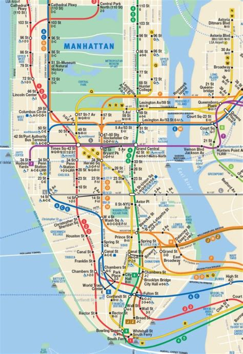 subway map for manhattan take a subway or ride in new york with the metrocard
