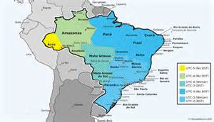 Brazil Time Zone Map by Brazil Ends Dst On February 16 2014