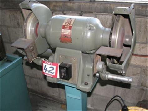 gmf bench grinder double ended bench grinder gmf 250mm 1 5hp 415 volt electric motor fitt auction