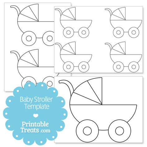 Baby Carriage Card Template by Printable Baby Stroller Template Printable Treats