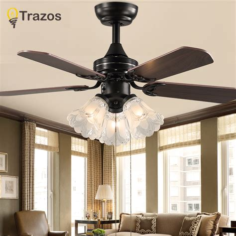 bedroom ceiling fans with remote control trazo black vintage ceiling fan with lights remote control