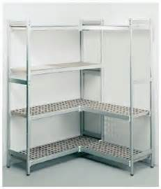 misa cold room fermostock 6611 l shaped 2 wall modular shelving for misa easy install cold rooms aircon247