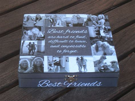 Personalized Handmade Gifts - best friends photo collage keepsake box unique of honor