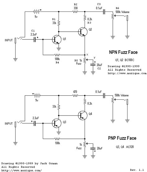 germanium transistor fuzz schematic amz guitar effects pc boards ready to solder