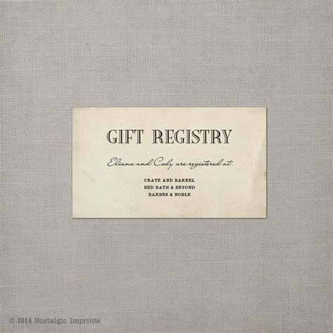 Gift Card Registry For Wedding - wedding registry card registry cards gift registry