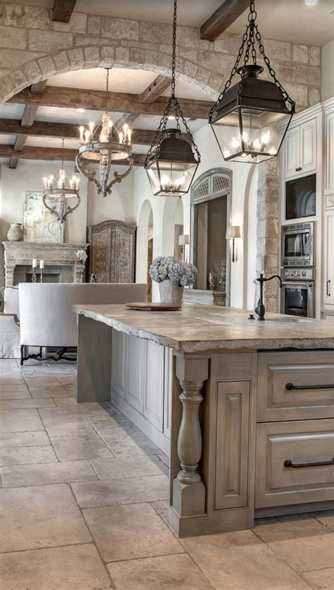 french country kitchen lighting the unfinished edge of this counter distressed grey