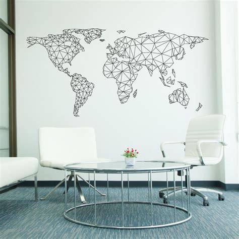 Wallsticker Map by World Map Network Wall Sticker Wallboss Wall Stickers