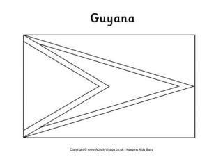 guyana flag printables