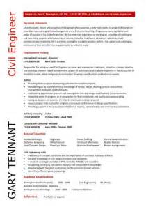 civil engineer resume template