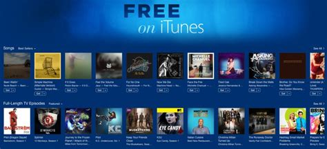 itunes free section apple launches free on itunes section with free tv and