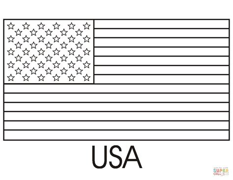color us flag of the united states of america coloring page free
