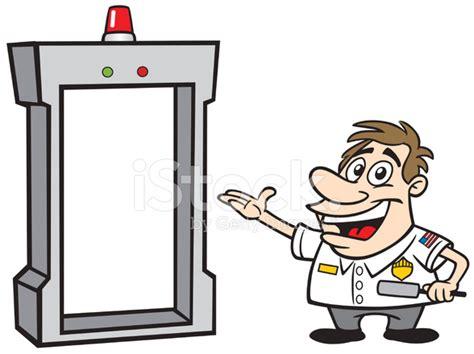 Interior Home Security Cameras Cartoon Guy As Airport Security Stock Vector Freeimages Com