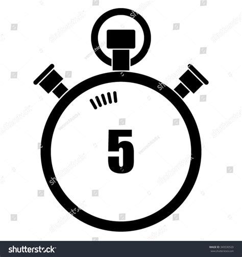 Three Seconds stopwatch vector icon 5 seconds stock vector 349330520