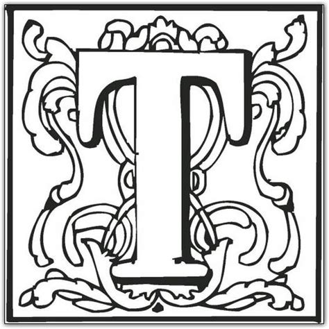 free coloring pages of fancy fancy letter r