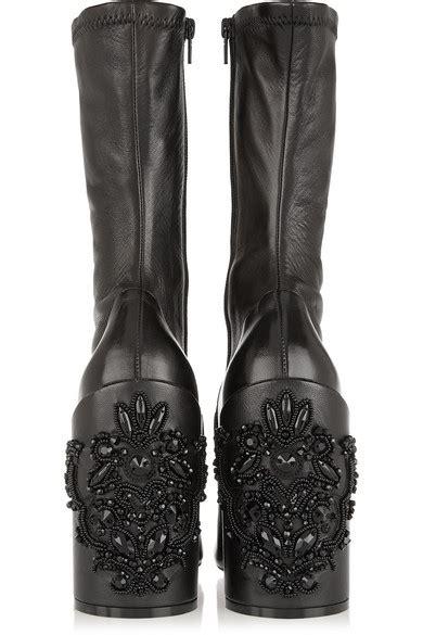 6015 Handbag Giorgio Armani Pp givenchy leather embroidered heel show boot black