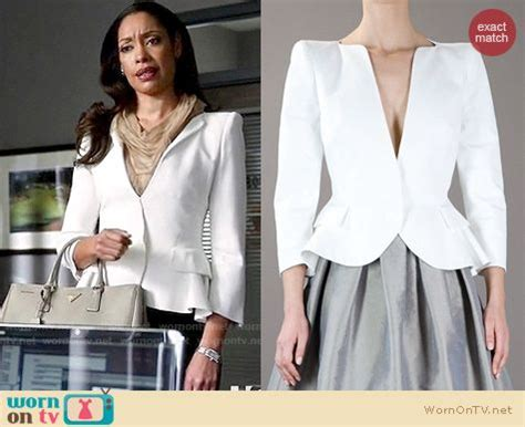 Tv Show Suits Wardrobe by Wornontv Jessica S White Peplum Blazer On Suits