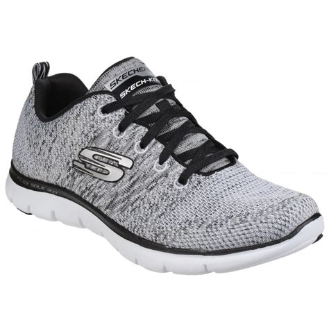 Skechers Flex Appeal skechers womens white black flex appeal 2 0 shoes sk12756