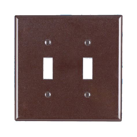 home depot l switch leviton 2 gang 2 toggle midway size plastic wall plate
