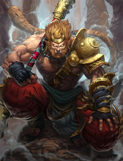 smite sun wukong by brolo on deviantart